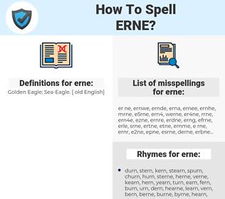 erne, spellcheck erne, how to spell erne, how do you spell erne, correct spelling for erne