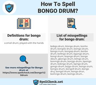 bongo drum, spellcheck bongo drum, how to spell bongo drum, how do you spell bongo drum, correct spelling for bongo drum