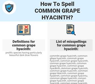 common grape hyacinth, spellcheck common grape hyacinth, how to spell common grape hyacinth, how do you spell common grape hyacinth, correct spelling for common grape hyacinth