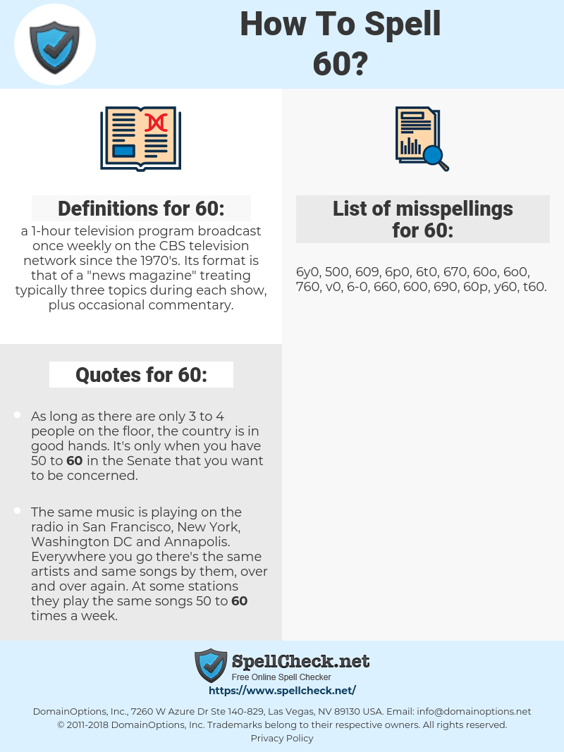 60, spellcheck 60, how to spell 60, how do you spell 60, correct spelling for 60