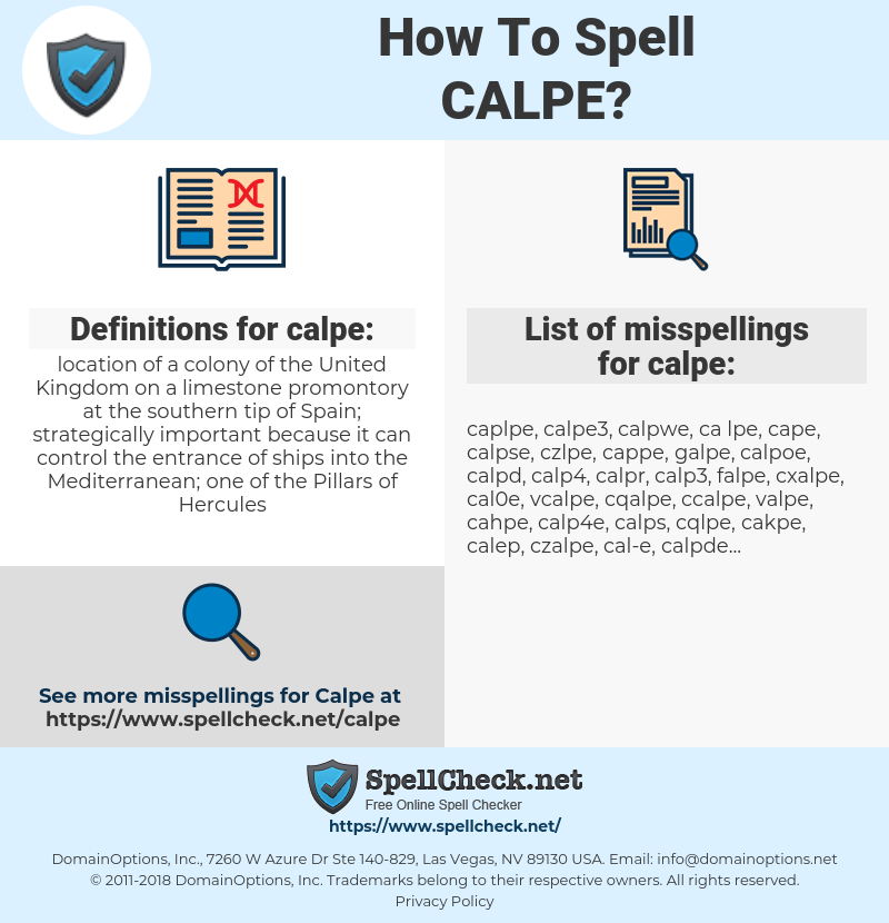 calpe, spellcheck calpe, how to spell calpe, how do you spell calpe, correct spelling for calpe