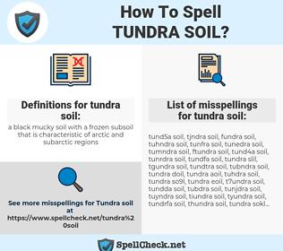 tundra soil, spellcheck tundra soil, how to spell tundra soil, how do you spell tundra soil, correct spelling for tundra soil