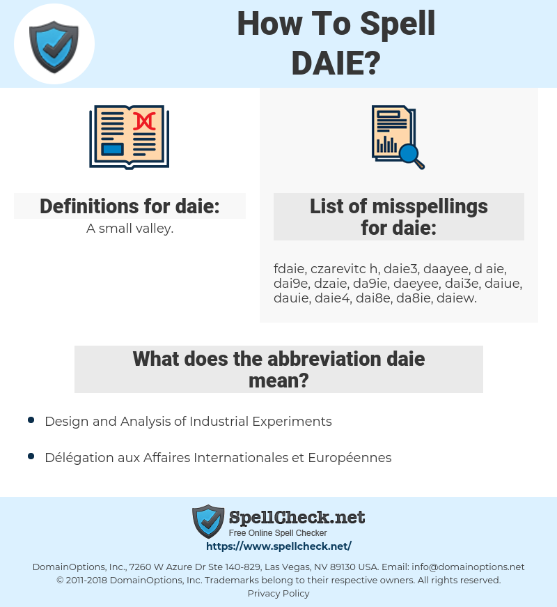 daie, spellcheck daie, how to spell daie, how do you spell daie, correct spelling for daie
