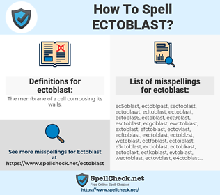 ectoblast, spellcheck ectoblast, how to spell ectoblast, how do you spell ectoblast, correct spelling for ectoblast