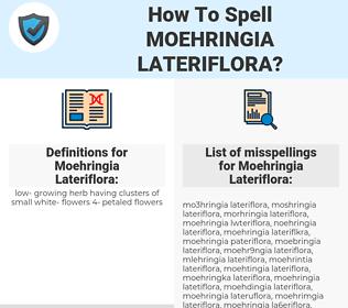 Moehringia Lateriflora, spellcheck Moehringia Lateriflora, how to spell Moehringia Lateriflora, how do you spell Moehringia Lateriflora, correct spelling for Moehringia Lateriflora