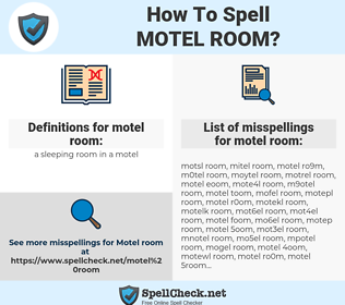 motel room, spellcheck motel room, how to spell motel room, how do you spell motel room, correct spelling for motel room