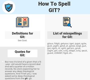Git, spellcheck Git, how to spell Git, how do you spell Git, correct spelling for Git