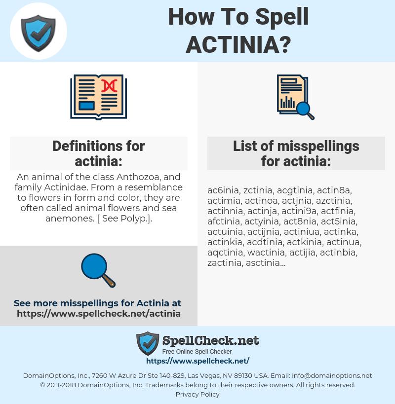 actinia, spellcheck actinia, how to spell actinia, how do you spell actinia, correct spelling for actinia