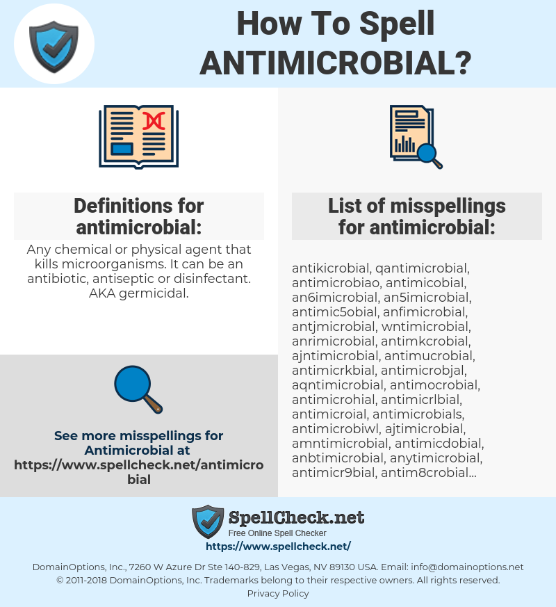 antimicrobial, spellcheck antimicrobial, how to spell antimicrobial, how do you spell antimicrobial, correct spelling for antimicrobial