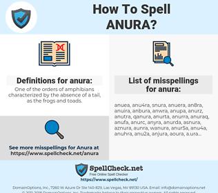 anura, spellcheck anura, how to spell anura, how do you spell anura, correct spelling for anura