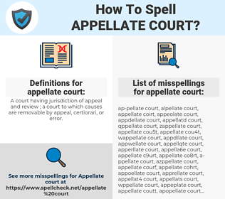 appellate court, spellcheck appellate court, how to spell appellate court, how do you spell appellate court, correct spelling for appellate court