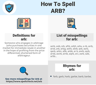 arb, spellcheck arb, how to spell arb, how do you spell arb, correct spelling for arb