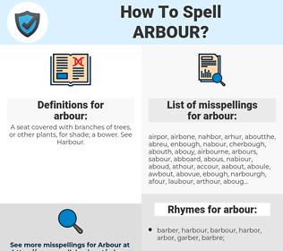 arbour, spellcheck arbour, how to spell arbour, how do you spell arbour, correct spelling for arbour
