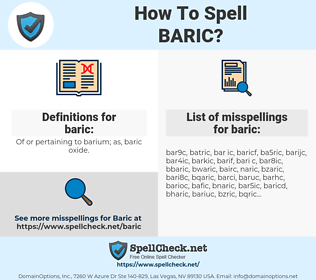 baric, spellcheck baric, how to spell baric, how do you spell baric, correct spelling for baric