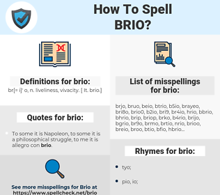 brio, spellcheck brio, how to spell brio, how do you spell brio, correct spelling for brio