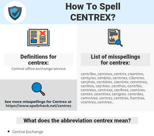 centrex, spellcheck centrex, how to spell centrex, how do you spell centrex, correct spelling for centrex