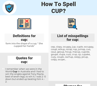 cup, spellcheck cup, how to spell cup, how do you spell cup, correct spelling for cup