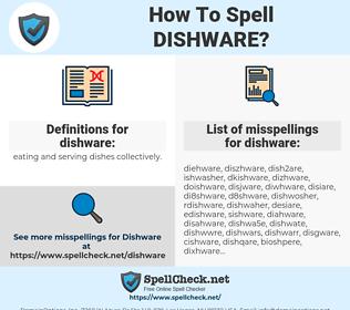 dishware, spellcheck dishware, how to spell dishware, how do you spell dishware, correct spelling for dishware