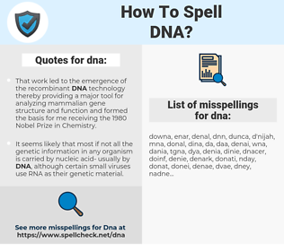 dna, spellcheck dna, how to spell dna, how do you spell dna, correct spelling for dna