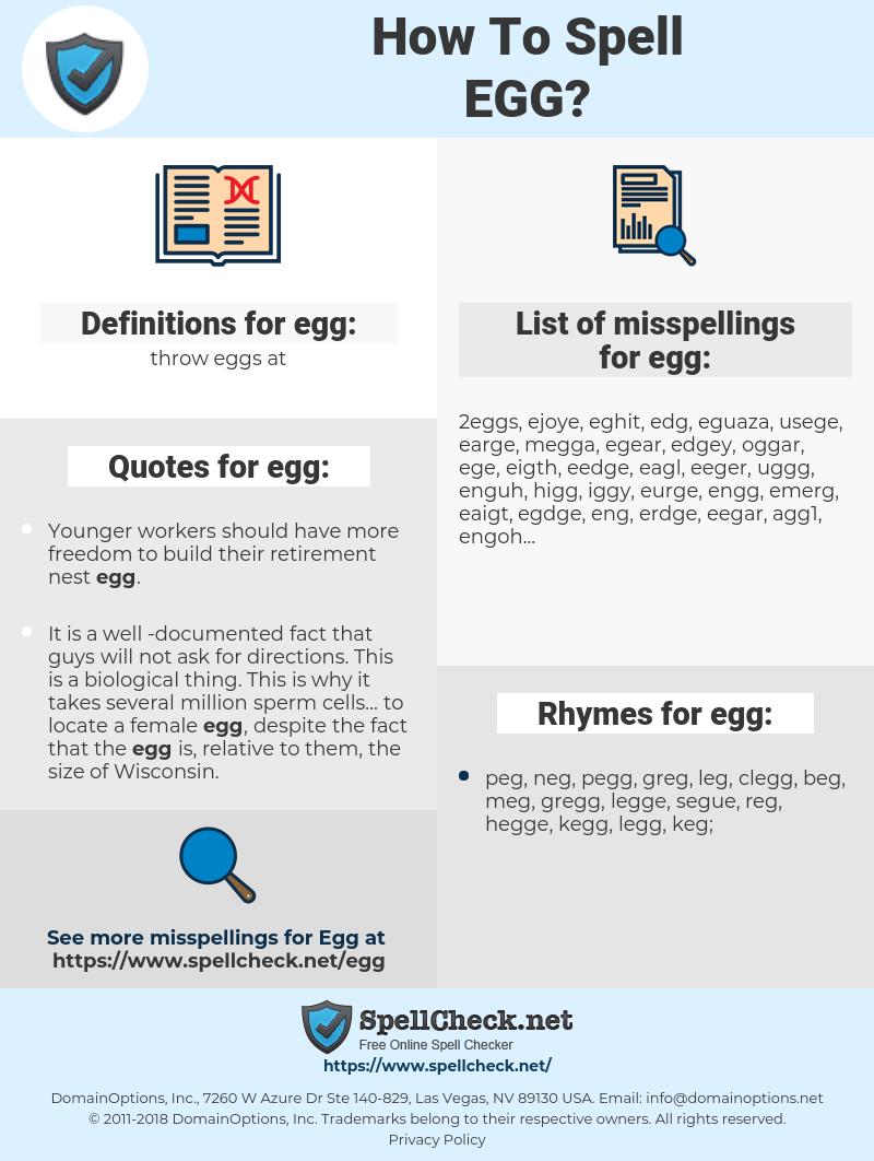 egg, spellcheck egg, how to spell egg, how do you spell egg, correct spelling for egg