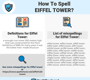 Eiffel Tower, spellcheck Eiffel Tower, how to spell Eiffel Tower, how do you spell Eiffel Tower, correct spelling for Eiffel Tower