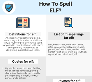 elf, spellcheck elf, how to spell elf, how do you spell elf, correct spelling for elf
