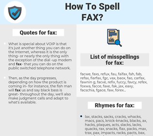 fax, spellcheck fax, how to spell fax, how do you spell fax, correct spelling for fax