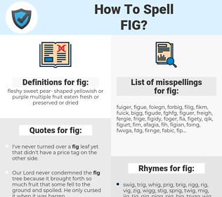 fig, spellcheck fig, how to spell fig, how do you spell fig, correct spelling for fig