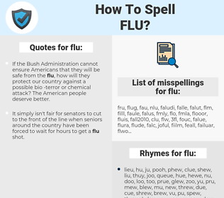 flu, spellcheck flu, how to spell flu, how do you spell flu, correct spelling for flu
