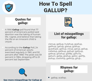 gallup, spellcheck gallup, how to spell gallup, how do you spell gallup, correct spelling for gallup
