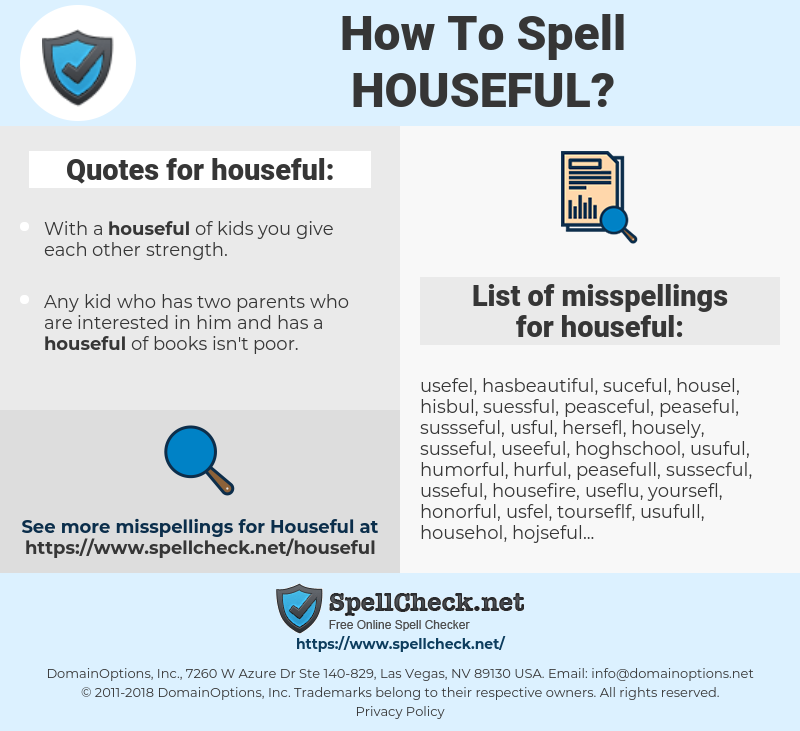 houseful, spellcheck houseful, how to spell houseful, how do you spell houseful, correct spelling for houseful