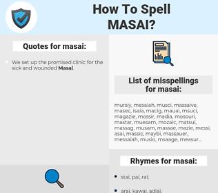 masai, spellcheck masai, how to spell masai, how do you spell masai, correct spelling for masai