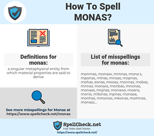 monas, spellcheck monas, how to spell monas, how do you spell monas, correct spelling for monas
