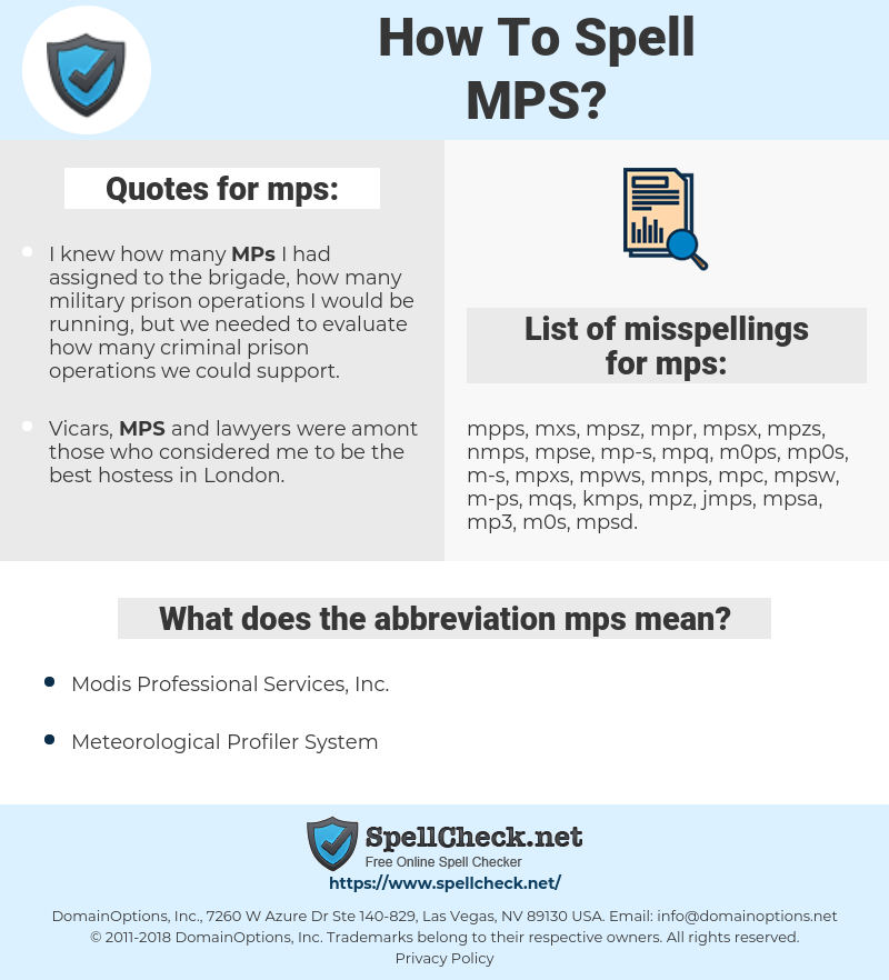 mps, spellcheck mps, how to spell mps, how do you spell mps, correct spelling for mps