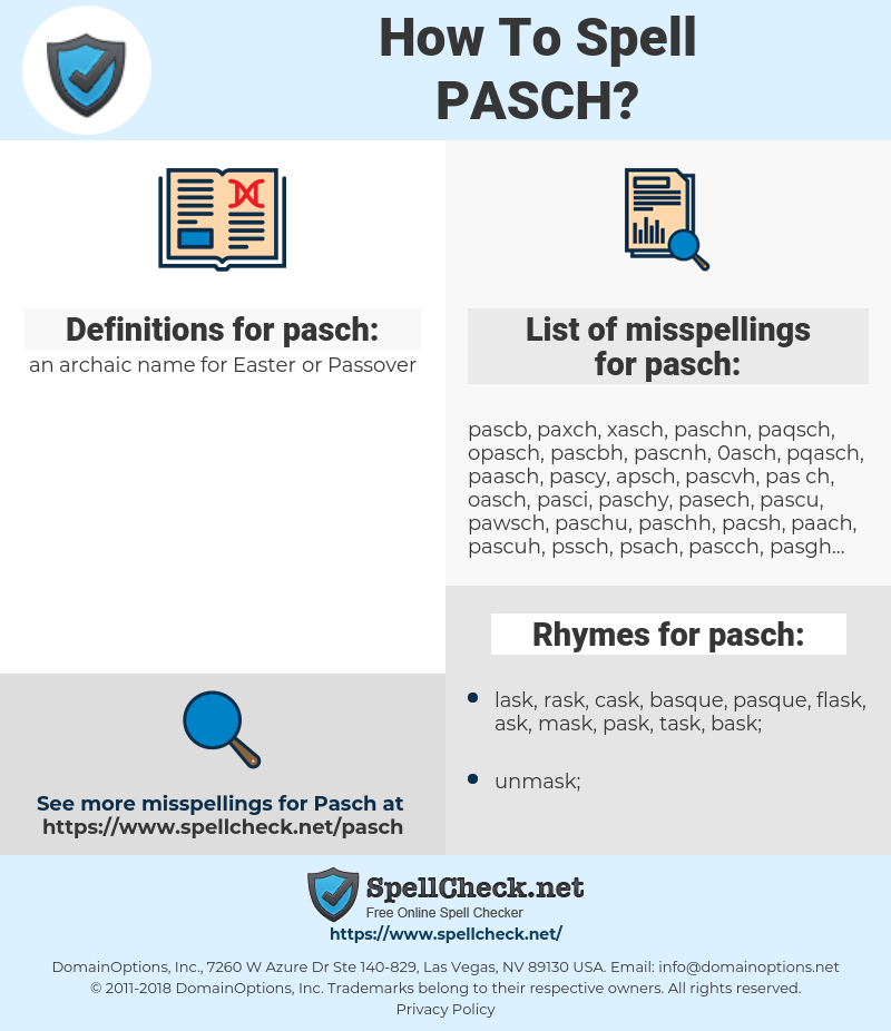 pasch, spellcheck pasch, how to spell pasch, how do you spell pasch, correct spelling for pasch