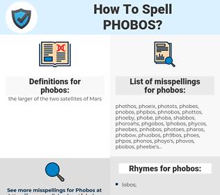 phobos, spellcheck phobos, how to spell phobos, how do you spell phobos, correct spelling for phobos