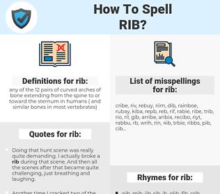 rib, spellcheck rib, how to spell rib, how do you spell rib, correct spelling for rib