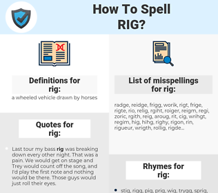 rig, spellcheck rig, how to spell rig, how do you spell rig, correct spelling for rig
