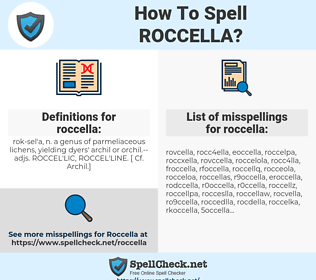 roccella, spellcheck roccella, how to spell roccella, how do you spell roccella, correct spelling for roccella