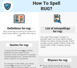 rug, spellcheck rug, how to spell rug, how do you spell rug, correct spelling for rug