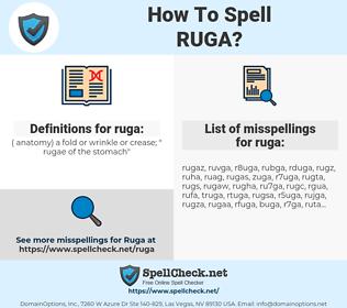 ruga, spellcheck ruga, how to spell ruga, how do you spell ruga, correct spelling for ruga