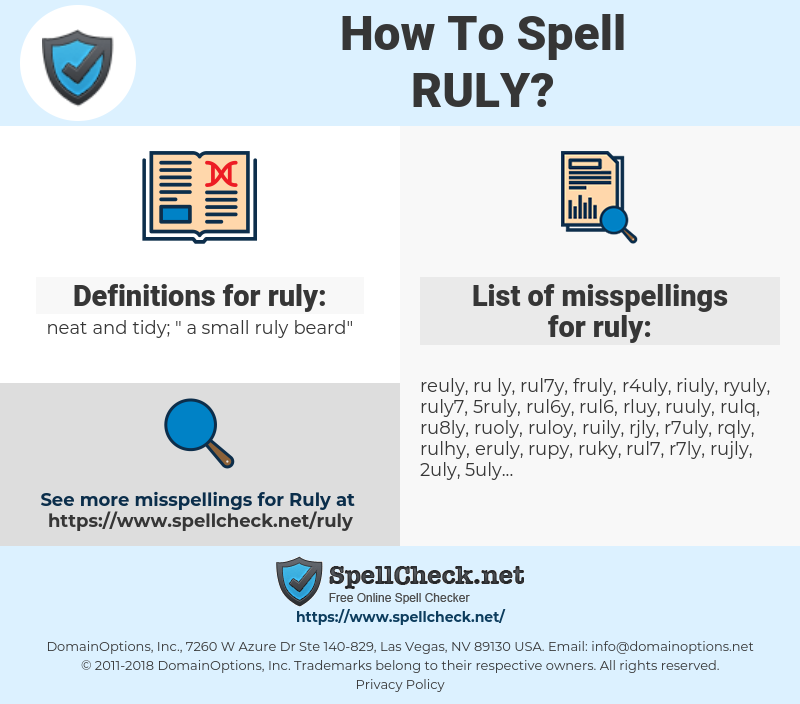 ruly, spellcheck ruly, how to spell ruly, how do you spell ruly, correct spelling for ruly