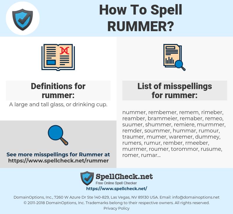 rummer, spellcheck rummer, how to spell rummer, how do you spell rummer, correct spelling for rummer