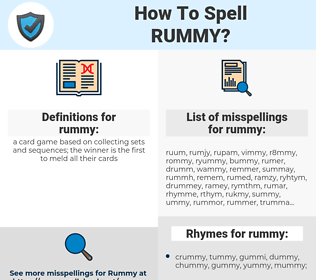 rummy, spellcheck rummy, how to spell rummy, how do you spell rummy, correct spelling for rummy