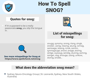 snog, spellcheck snog, how to spell snog, how do you spell snog, correct spelling for snog