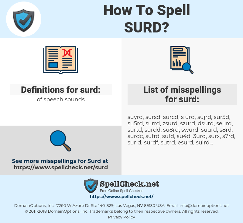 surd, spellcheck surd, how to spell surd, how do you spell surd, correct spelling for surd