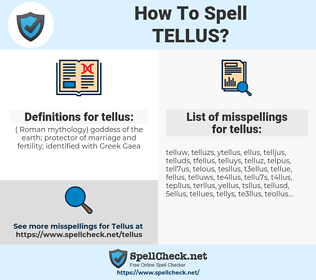 tellus, spellcheck tellus, how to spell tellus, how do you spell tellus, correct spelling for tellus