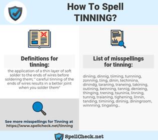tinning, spellcheck tinning, how to spell tinning, how do you spell tinning, correct spelling for tinning