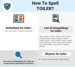 toiler, spellcheck toiler, how to spell toiler, how do you spell toiler, correct spelling for toiler