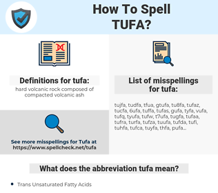 tufa, spellcheck tufa, how to spell tufa, how do you spell tufa, correct spelling for tufa